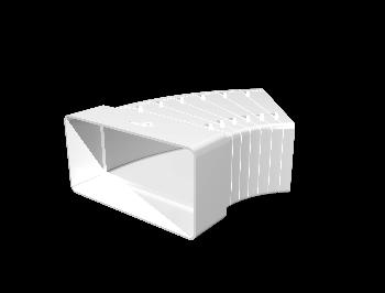 Колено разноугловое горизонтальное пластик, 60х120