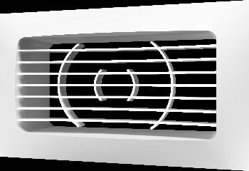 Решетка вентиляционная приточно-вытяжная АБС 150х90 с фланцем 120х60