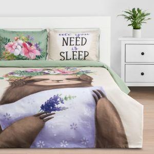 """Постельное белье """"Этель"""" евро Need is sleep 200*217 см, 220*240 см, 50*70+3 см - 2 шт, ранфорс 111 г/м2"""