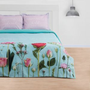 "Постельное бельё ""Этель"" евро Flowers dream 200х217 см, 220х240 см, 50х70+3 см - 2 шт, ранфорс 111 г/м2"