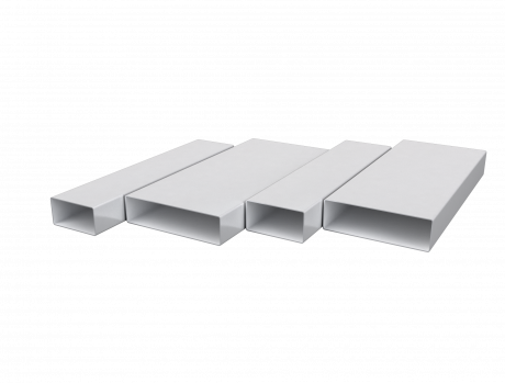 Воздуховод прямоугольный 60х204, L=2м, ПВХ
