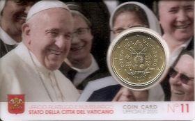 50 центов(регулярный выпуск) Ватикан 2020 BU на заказ