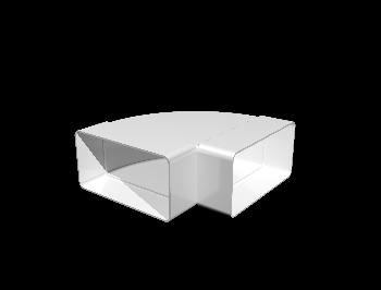 Колено горизонтальное пластик 90°, 60х204