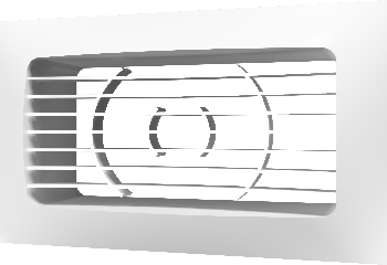 Решетка вентиляционная приточно-вытяжная АБС 234х90 с фланцем 204х60