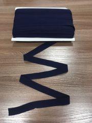 окантовочная резинка-бейка матовая темно-синяя