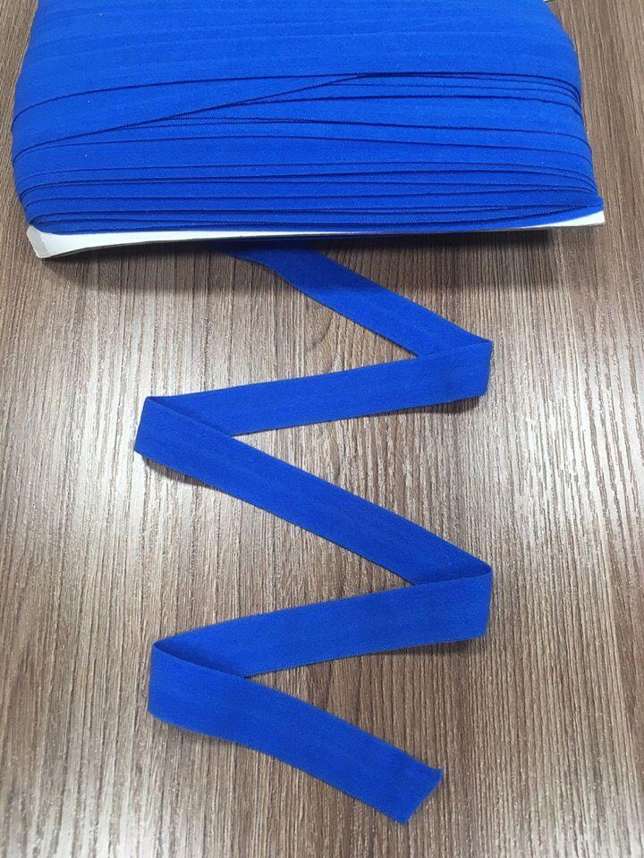окантовочная резинка -бейка матовая синяя