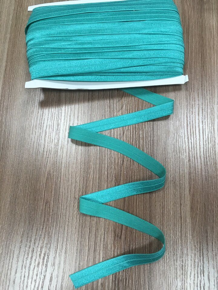 окантовочная резинка -бейка бирюза