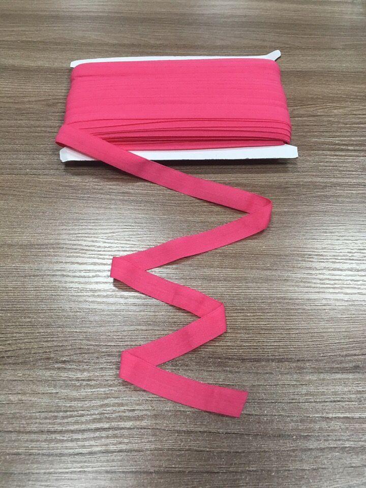 окантовочная резинка -бейка ярко розовая