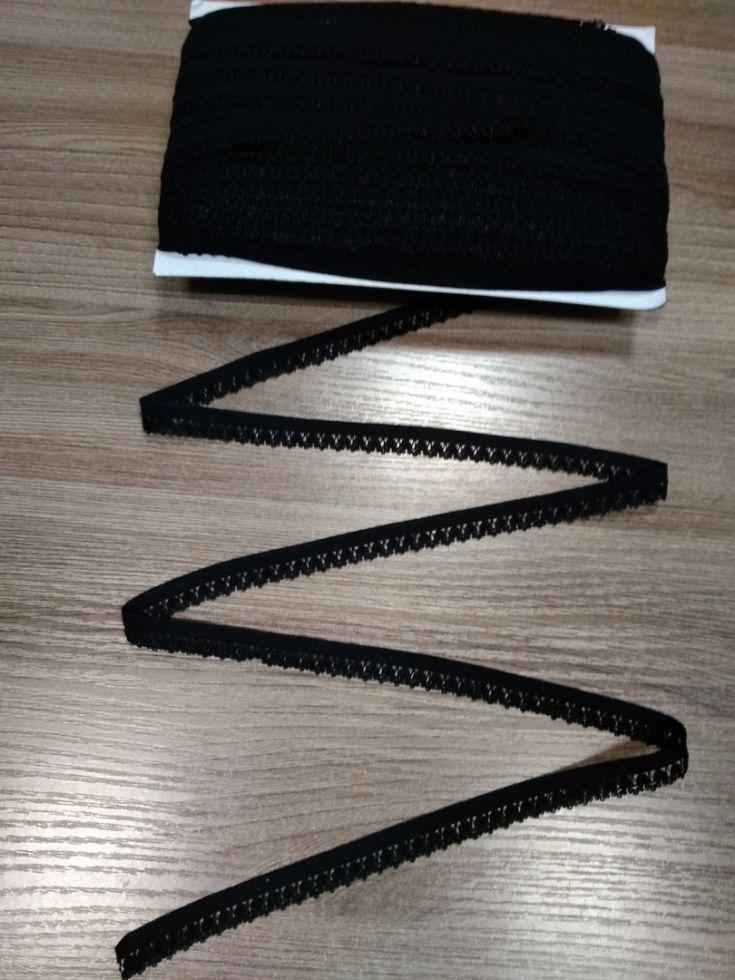 ажурная резинка12мм черная