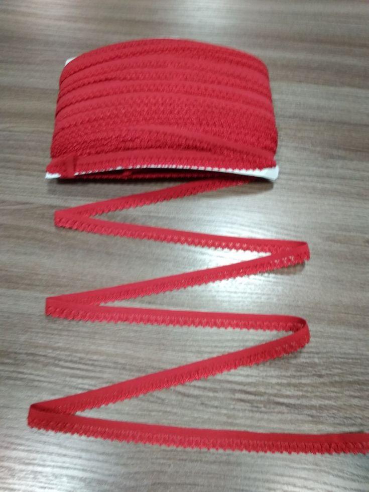 ажурная резинка12мм красная