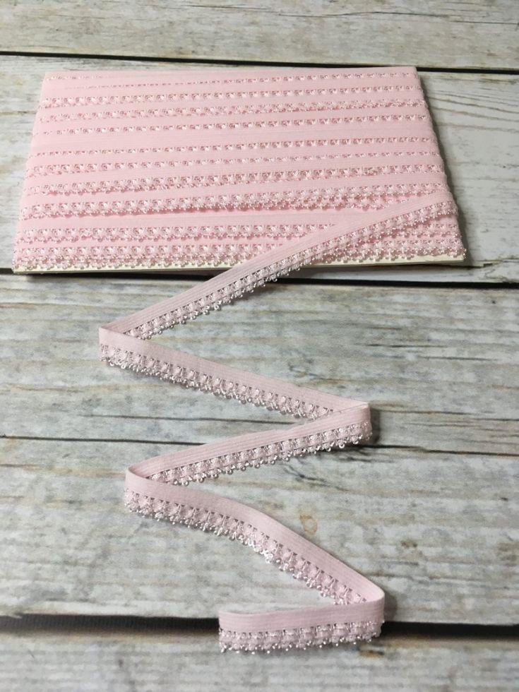 ажурная резинка12мм нежно-розовая