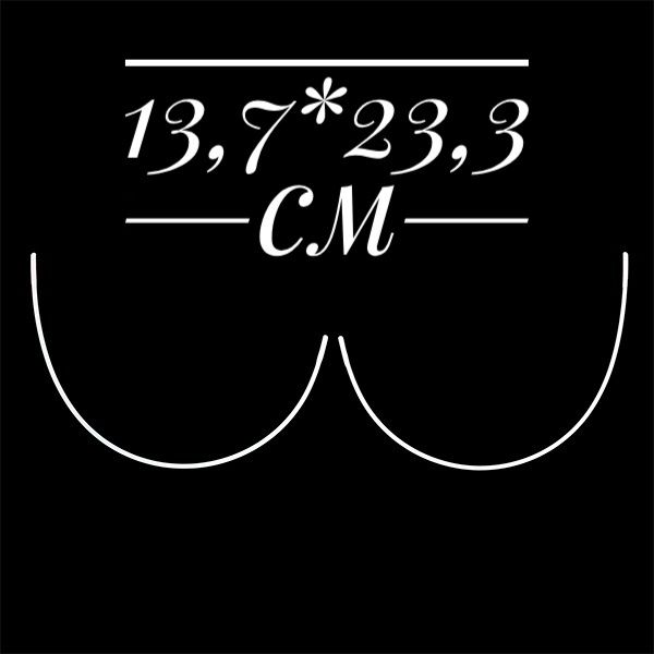 косточки корсетные полукруг металл размер13,7*23,3см