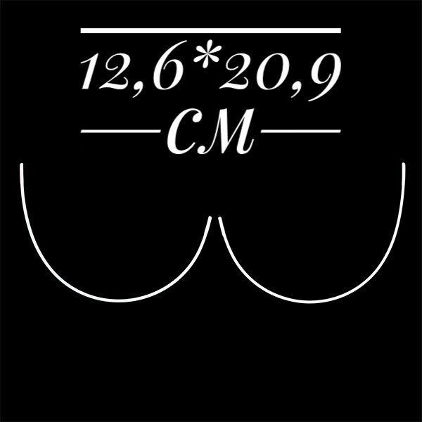 косточки корсетные полукруг металл размер 12,6*20,9см