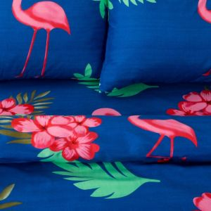 Постельное бельё «Экономь и Я» Фламинго (вид 2) евро 200?217 см, 220?240 см, 50?70 см - 2 шт, микрофайбер, 75 г/м?
