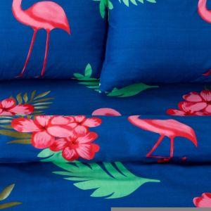 Постельное бельё «Экономь и Я» Фламинго (вид 2) дуэт 143?215см-2шт, 220?240см, 50?70 см - 2 шт, микрофайбер, 75 г/м?
