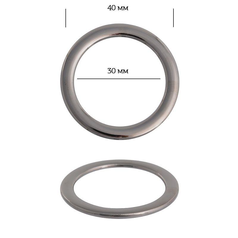 кольцо металл 38,6мм никель