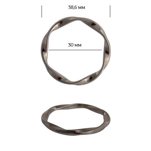 Кольцо металл спираль 38,6мм никель