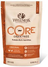 Wellness CORE Беззерновой полнорационный корм из индейки с курицей для взрослых кошек, 300 г