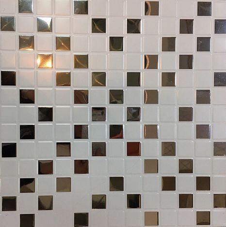 Кассета Cesal 300х300 мозаика белая B51
