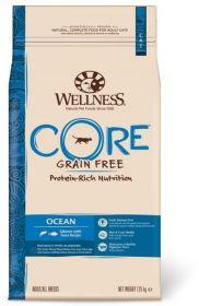 Wellness CORE Беззерновой полнорационный сухой корм из лосося с тунцом для взрослых кошек, 10 кг