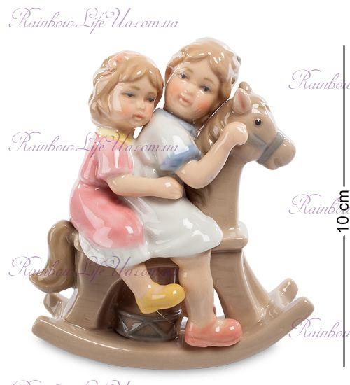 """Статуэтка Девочки на лошадке CMS-12/26 """"Pavone"""""""