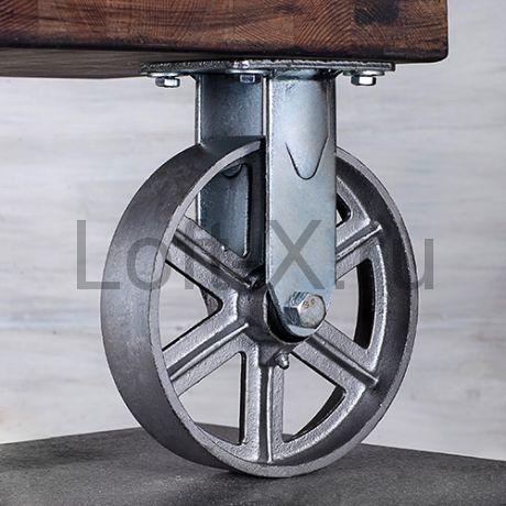 Чугунное колесо 150мм (неповоротное) для мебели LOFT