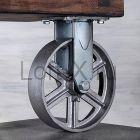 Чугунное колесо 200мм (неповоротное) для мебели LOFT