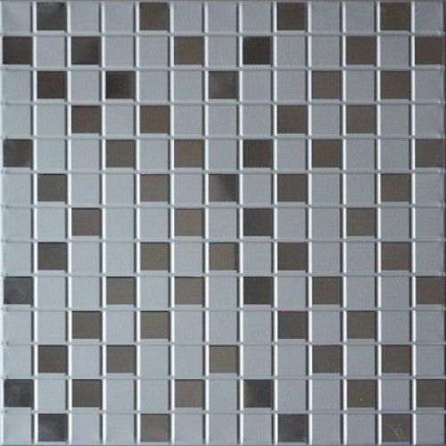 Кассета Cesal 300х300 мозаика серебрянная B46
