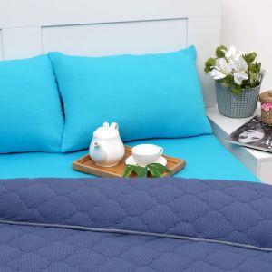 Постельное бельё Brooklin Bed 2сп индиго 180х200 рез, одеяло 170х220, 50х70 2шт, трикотаж Терри, хл100% 3242908