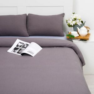 Постельное бельё Лакоста 2 сп серый 180х220см, 180х200см, 50х70см-2 шт, трикотаж, хл 100%