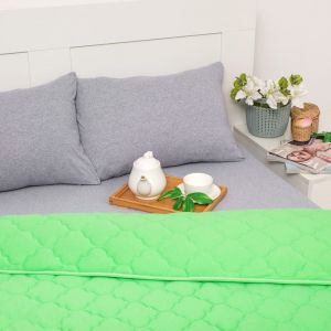 Постельное бельё Brooklin Bed евро цвет салат 200х200 рез. (серый), одеяло 200х220, 50х70 2шт, трик Терри, хл100%