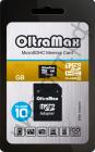 Карта памяти micro SDHC  4GB OltraMax Class 10  с адаптером BL-1