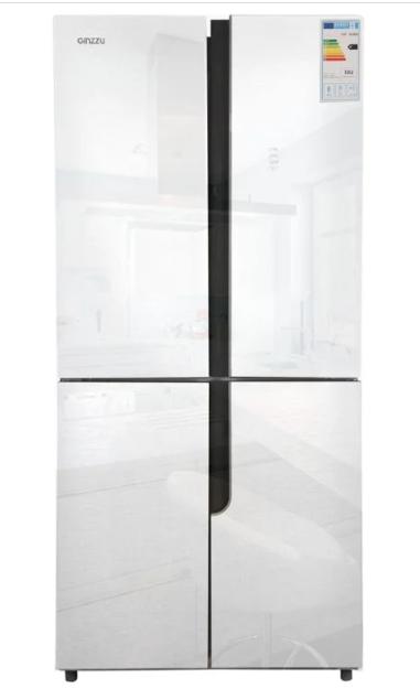 Холодильник GiNZZU NFK-500 Белое стекло