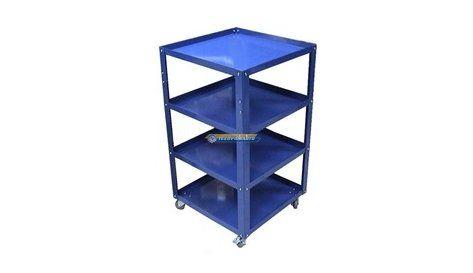 Тележка инструментальная 4 полки синяя