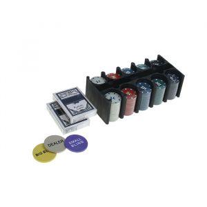 Покер, набор для игры (карты 2 колоды, фишки 200 шт с/ном, сукно 60х90 см) УЦЕНКА1439086