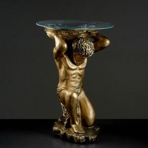 """Стол """"Титан"""" бронза 78 см, полистоун"""