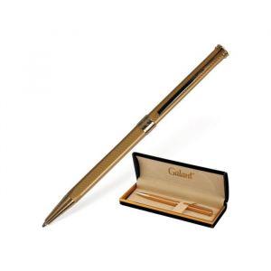 Ручка шариковая подарочная поворотная в кожзам футляре GALANT Stiletto Gold, чернила синие