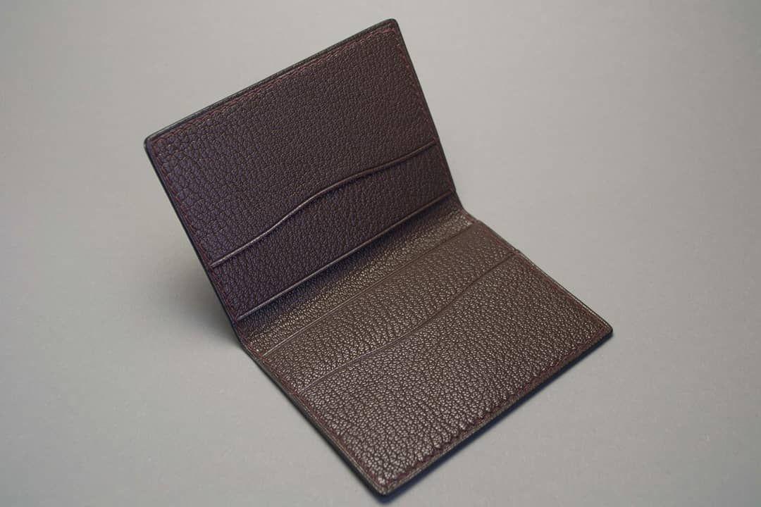Бумажник картхолдер из натуральной кожи