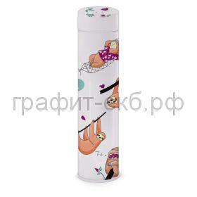 Пенал-косметичка Феникс+ металл тубус Забавные ленивцы 19х4,7х4,7см 51742