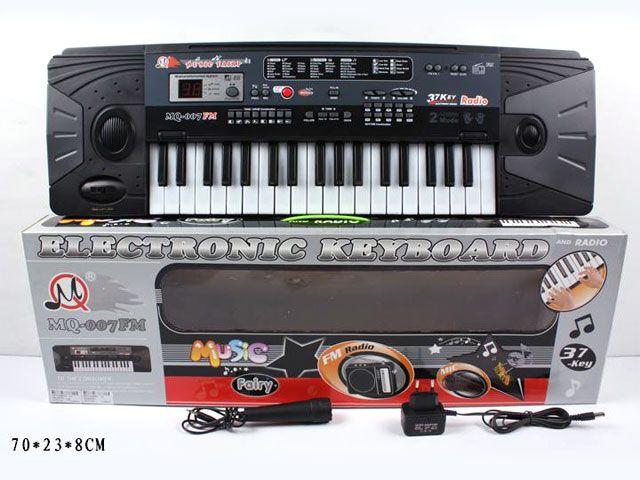 MQ-007FM Детский синтезатор пианино с микрофоном от сети