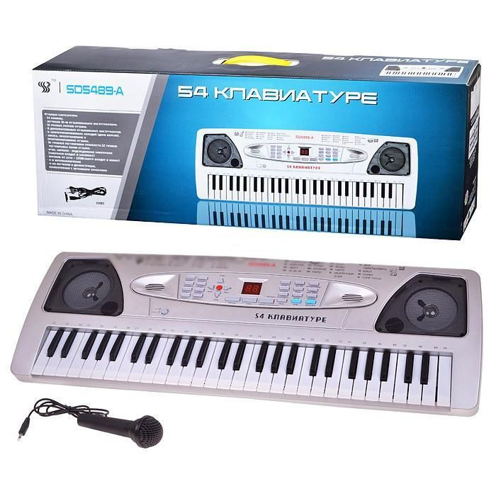 SD5489A Детский синтезатор пианино с микрофоном от сети