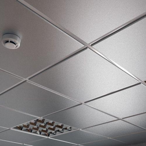 Потолок кассетный армстронг Cesal Tegular line 3313 Металлик Серебристый Profi 595х595 мм