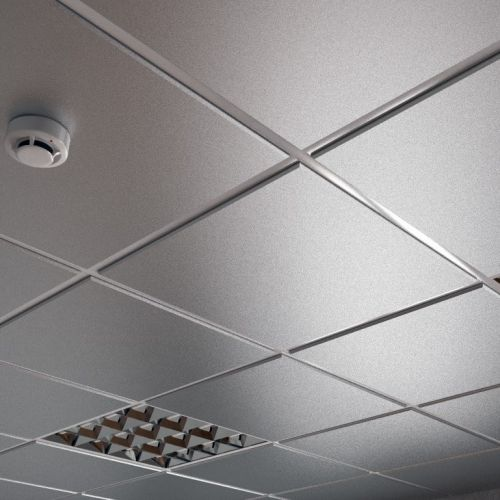 Потолок кассетный армстронг Cesal Tegular K45 3313 Металлик Серебристый Profi 595х595 мм