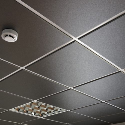 Потолок кассетный армстронг Cesal Tegular K45 3305 Чёрный Матовый Profi 595х595 мм