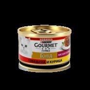 Gourmet Gold Мясной тортик с говядиной и курицей, 85г