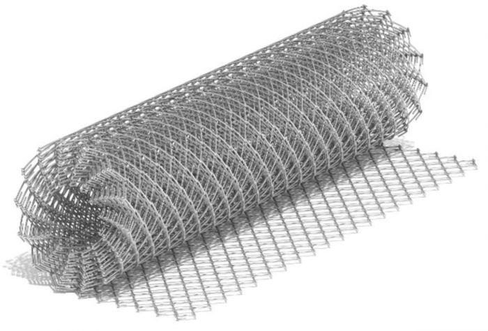 Сетка рабица оцинкованная 50х50 мм, толщина 1.5 мм (рулон 1.5х10 м)