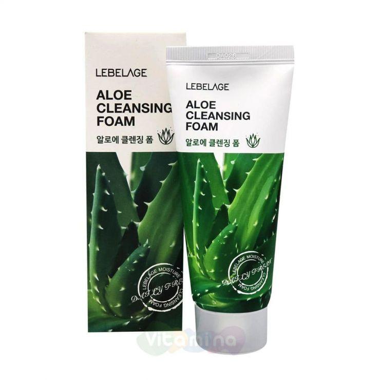 Lebelage Успокаивающая пенка с соком алоэ Aloe Cleansing Foam, 100 мл