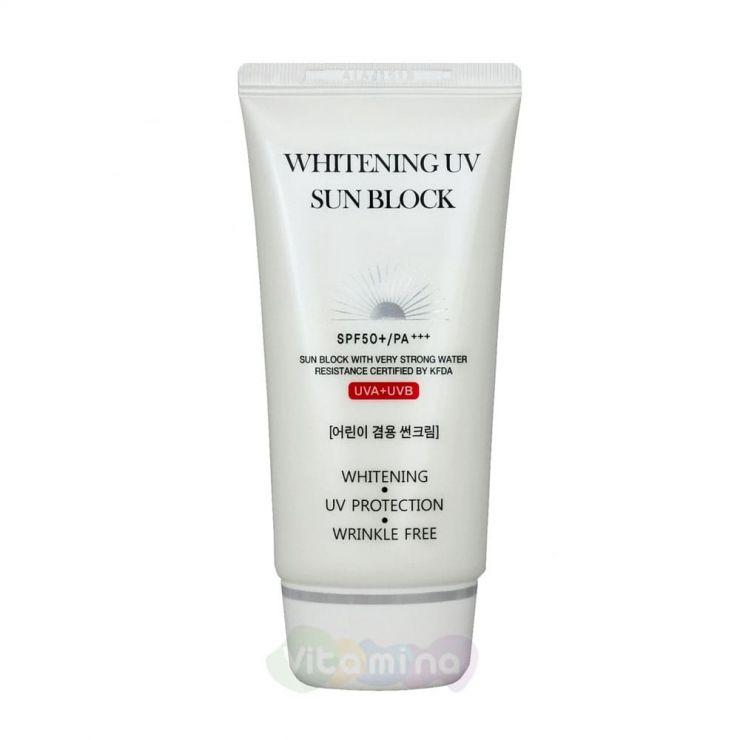 Jigott Осветляющий солнцезащитный крем Whitening Uv Sun Block Cream SPF50+/PA+++, 70 мл