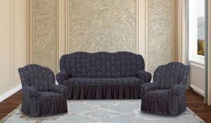 """Комплект чехлов КП311С """"Жаккард"""" из 3х предметов (трехместный диван и 2 кресла), арт. KAR 007-01 Gri"""