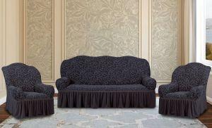 """Комплект чехлов КП311С """"Жаккард"""" из 3х предметов (трехместный диван и 2 кресла), арт. KAR 009-03 Gri"""